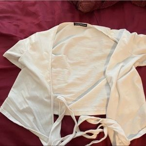 brandy melville wrap top